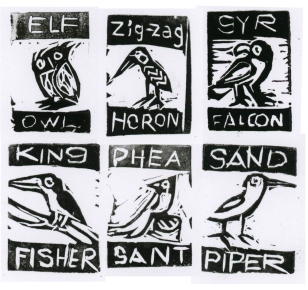 bird-stamps-BW